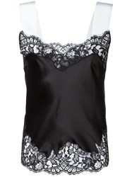 Givenchy Contrast Strap Lace Camisole Black
