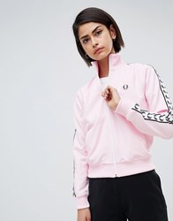 Fred Perry Track Jacket With Logo Tape Pink