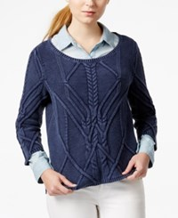 Maison Jules Crew Neck Pullover Sweater Only At Macy's
