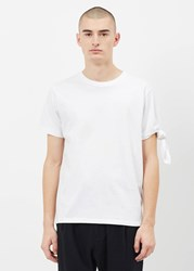 J.W.Anderson Jw Anderson 'S Single Knot T Shirt In White Size Xs 100 Cotton