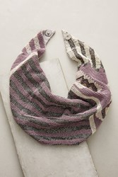 Anthropologie French Chiffon Scarf Necklace Lavender
