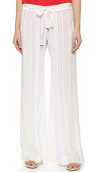 Zeus Dione Alcestes Wide Leg Trousers Ivory