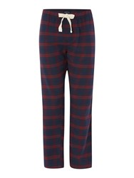 Howick Check Nightwear Trousers Red