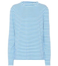 Mih Jeans Emelie Striped Cotton Top Blue
