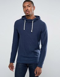 Tom Tailor Knitted Hoodie With Roll Hems 6740 Navy