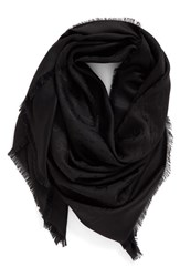 Women's Marc Jacobs Monogram Silk And Wool Jacquard Scarf Black