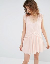 Mango Pretty Layered Mini Dress Pink