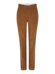Chester Barrie Slim Fit Tailored Trousers Walnut