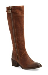 Brn Women's B Rn 'Poly' Riding Boot Tobacco Distressed Leather