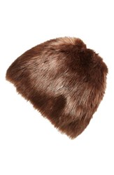 Women's Badgley Mischka Faux Mink Hat Brown