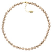 Finesse Classic 8Mm Pearl Necklace Bronze