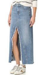 7 For All Mankind Front Slit Skirt Gold Cost