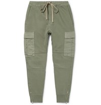 Tom Ford Garment Dyed Loopback Cotton Jersey Sweatpants Army Green