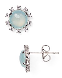 Nadri Sterling Lashout Chalcedony Stud Earrings 100 Bloomingdale's Exclusive Silver