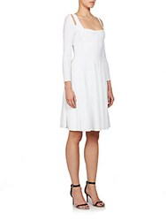 Givenchy Textured Knit Cutout Dress White