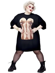 Beth Ditto Jean Paul Gaultier Corset T Shirt Dress