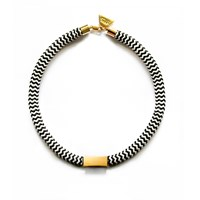 Hyes Studio Rope Necklace Black White