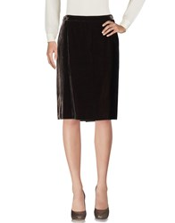 Allegri Knee Length Skirts Dark Brown