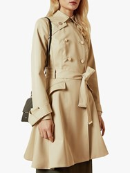 Ted Baker Luciey Traditional Belted Mac Coat Natural
