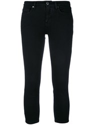 Victoria Beckham Skinny Cropped Jeans Women Cotton Polyester Spandex Elastane 29 Black