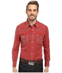 Rock And Roll Cowboy Long Sleeve Snap B2s8428 Red Men's Clothing