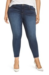 Wit And Wisdom Plus Size Ab Solution Ankle Skinny Jeans Blue