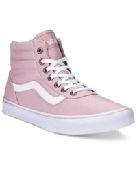 Vans Women's Milton Hi Canvas High Top Sneaker Women's Shoes Mauve White