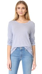 Velvet Cammy Stripe Pullover Artic Blue