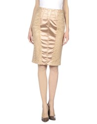 Elisabetta Franchi Skirts Knee Length Skirts Women Skin Color
