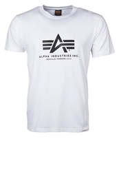 Alpha Industries Basic Print Tshirt White