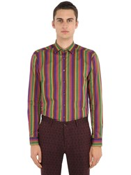 Etro Striped Cotton Shirt Multicolor
