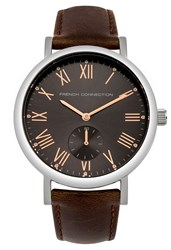 French Connection Men S Strap Watch Brown