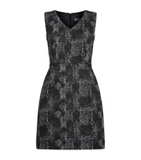 Reiss Enni Jacquard Dress Female Black