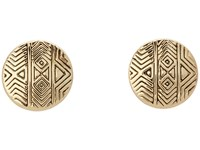House Of Harlow Tholos Mosaic Stud Earrings Gold Tone Earring