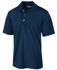 Pga Tour Men's Airflux Solid Golf Polo Shirt True Navy