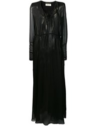 Saint Laurent Sheer Maxi Dress Black