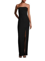 Elizabeth And James Carly Mia Off Center Slit Gown Black