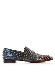 Christian Louboutin Dandelion Spike Embellished Loafers Black Multi