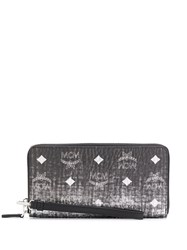 Mcm All Over Logo Wallet Silver