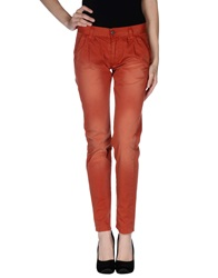 Minimal Casual Pants Rust