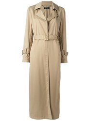 Twin Set Belted Trench Coat Nude Neutrals