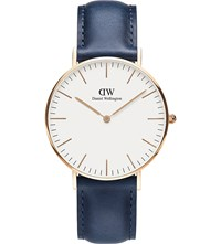 Daniel Wellington Classic Suffolk Rose Gold And Leather Strap