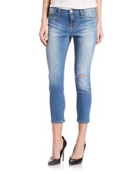 Dittos Cropped Skinny Jeans Medium Destroy