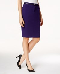 Calvin Klein Belted Pencil Skirt Night