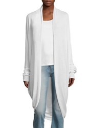 The Row Long Cashmere Cardigan Ivory