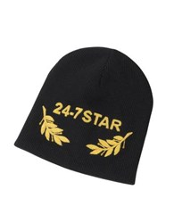Dsquared2 24 7 Star Icon Black Wool Beanie