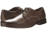 Hush Puppies Glitch Parkview Tan Leather Perf Men's Shoes Brown