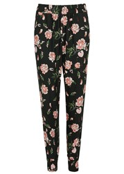 Mother Of Pearl Rhea Floral Print Jersey Jogging Trousers Navy