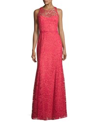 Marchesa Sleeveless Beaded Lace Illusion Gown Sienna