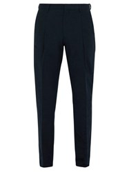 Acne Studios Boston Tapered Cotton Trousers Navy